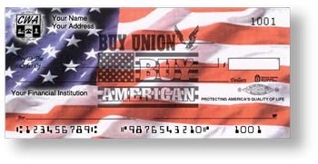 Show your patriotic spirit with our American Flag laser and personal pocket checks