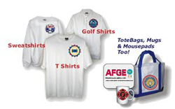 Your international union's logo in full color on shirts, mugs, tote bags, mousepads & more!