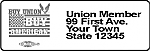 Union Made Return Address Labels