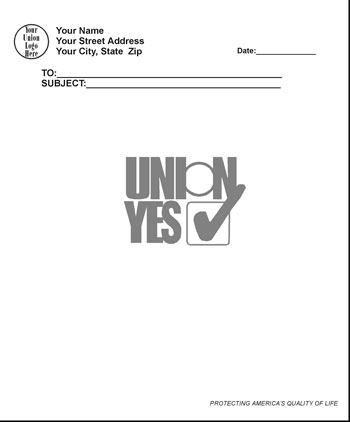 Union Made Customized Notepad